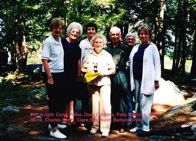 Corky Weiss, Doris D'Ambra, Patty D'Ambra, Wilma Stone, Charles Stone, Claire Siegmund, Barbara Shelly, circa late 1980's-early 1990's