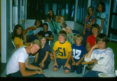 Front: Art Weiss, friend, friend, Michael DeRoy, friend, Keith Siegmund, Back: Maureen Coles, Debbie Hummel, Dirk Siegmund, Kathleen Coles, friend, Brenda Hummel, Nora Coles, Lynn DeRoy