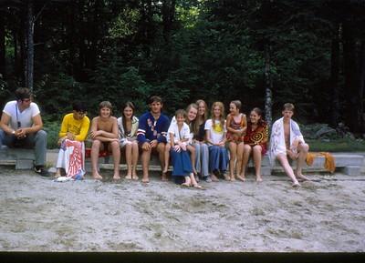 Bruce Weiss, Dirk Siegmund, friend, Maureen Coles, Scott Siegmund, Steve Siegmund, Debbie Hummel, Kathleen Coles,  Brenda Hummel, Nora Coles, friend, Art Weiss