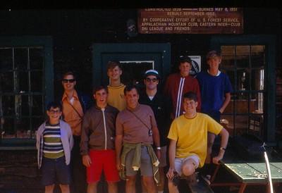 Climbing Mount Washington, front: Dirk Siegmund, Scott Siegmund, Chuck Siegmund, Roger Jury;  back:  Bruce Weiss, Eric Weiss, Tom Issacs, Peter Cristiano, Ritchie Healy