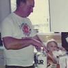 brandon helping Grandpa in the kitchen 12/88