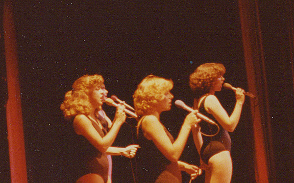 "A Chorus Line @ Great America. I'm on the far left. ""God I hope I get it...I hope I get it"". :)"