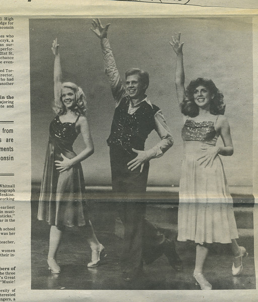 This is a Great America promo photo. Also pictured: Sally Fularczyk and John Dietrich.