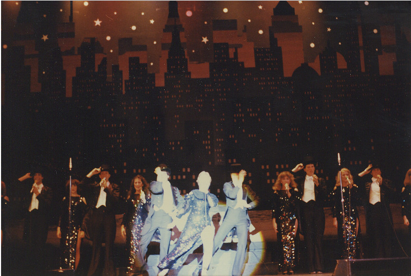 """Marriott's Great America: Grand Music Hall Show. I'm just to the right of center. This was """"New York, New York"""", I loved these costumes. We got a standing ovation at every single show during this song."""