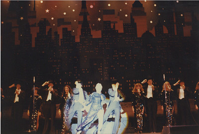 "Marriott's Great America: Grand Music Hall Show. I'm just to the right of center. This was ""New York, New York"", I loved these costumes. We got a standing ovation at every single show during this song."