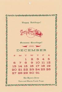 December, 1981, Wyvern Press