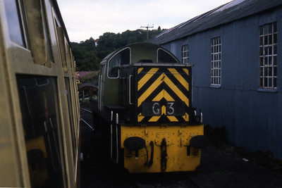D9529 on shed at Grosmont (??/07/1982)