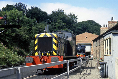 Class '04' no D2207 awaits its next duty at Grosmont MPD (??/07/1982)