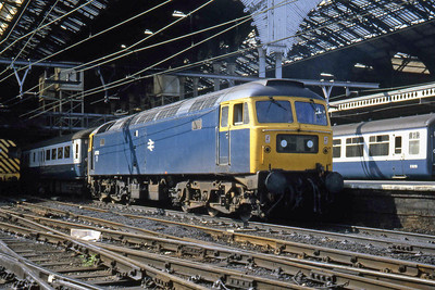 Stratford's 47572 awaits departure from Liverpool Street with 1P22 1130 to Norwich (18/09/1982)