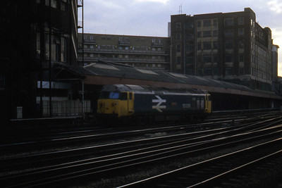 50038 'Formidable at Paddington in the last of the daylightlater that evening (08/04/1982)