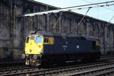 26028 awaits its next duty at Carlisle (16/04/1982)