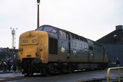 55019, now shorn of its nameplates, but ultimately destined for a life in preservation following its purchase by the DPS (27/02/1982)
