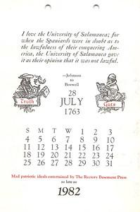 July, 1982, Rectory Basement Press