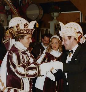 Prinsenproclamatie met rechts Wim Zink, voorzitter SOCN