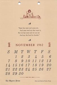 November, 1982, Wyvern Press