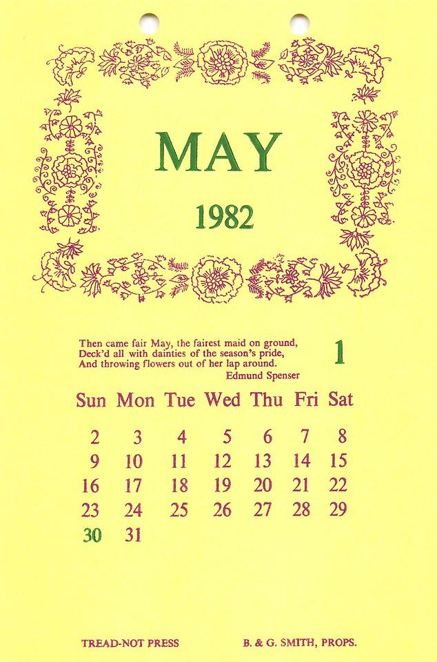 May, 1982, Tread-Not Press
