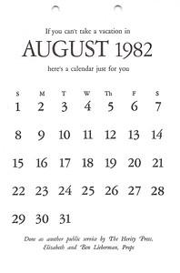 August, 1982, Herity Press