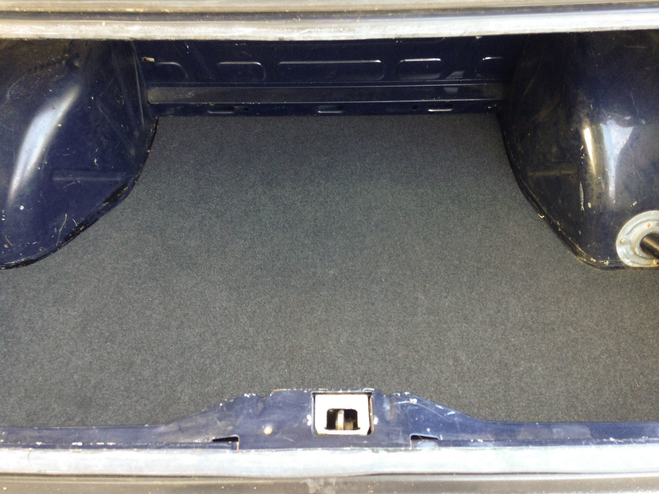 New trunk seals, carpet, and spare tire deck.