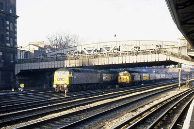 Following shortly behind was 47556 with another morning peak train bound for London Paddington (22/02/1983)