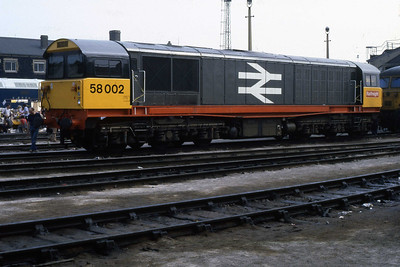 An immaculate 58002 is pictured on display at the Stratford Open Day (Ian Ward: 09/07/1983)