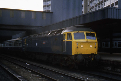 Another view of 47406 'Rail Riders' at Leeds with 1E59 1805 Liverpool - York (22/07/1983)