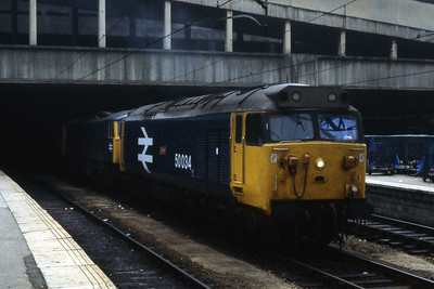 50034 'Furious' awaits its next duty at Birmingham New Street (Ian Ward: 09/07/1983)
