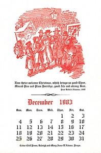 December, 1983, Cedar Cliff Press