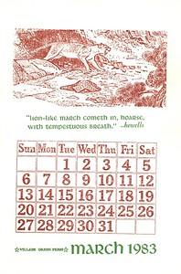 March, 1983, Village Green
