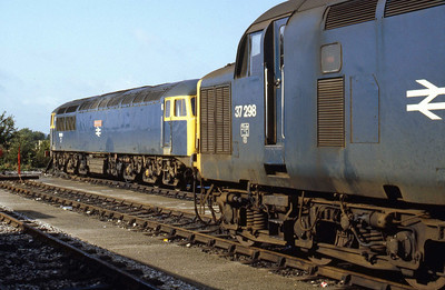 37298 and 56031 'Merehead' at Westbury (22/09/1984)