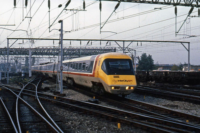 APT unit 370001 arrives at Crewe on a test run (31/10/1984)