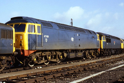47901 at Westbury in the company of 56038 (22/09/1984)
