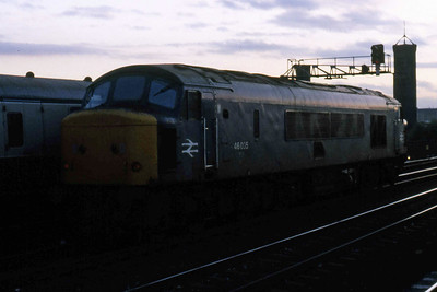 With its days in traffic numbered, 46035 is seen at Leeds (13/10/1984)