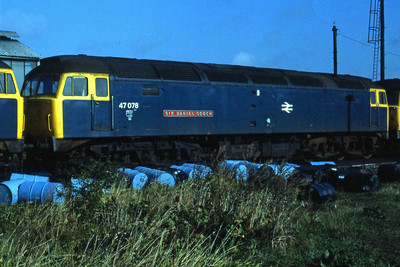 47078 'SIR DANIEL GOOCH' at Westbury (22/09/1984)