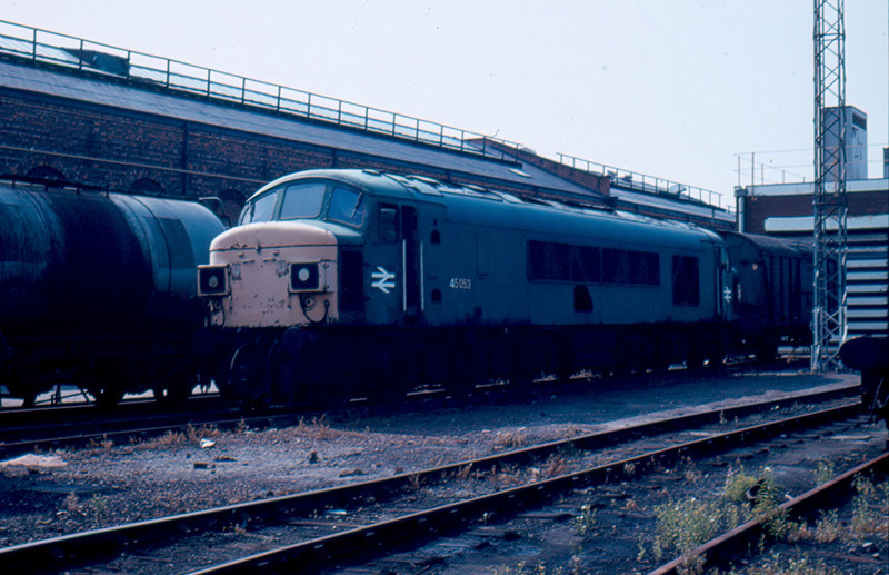 45053 withdrawn inside Crewe Works 19/08/84