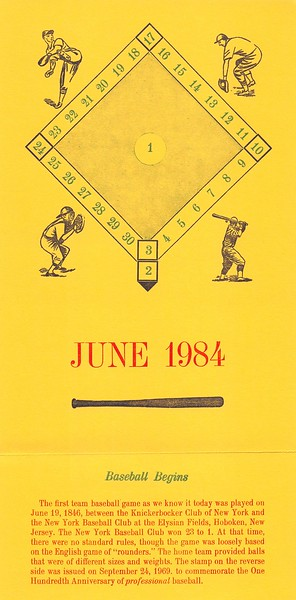 June, 1984, Southpaw Printers, Cedar Cliff Press, baseball