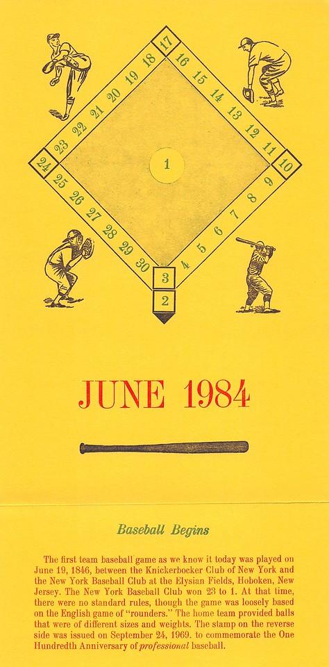 June, 1984, Southpaw Printers, Cedar Cliff Press, baseball
