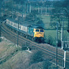 47485 powers past Oubeck with the 15:25 Barrow in Furness - Crewe 12/04/84