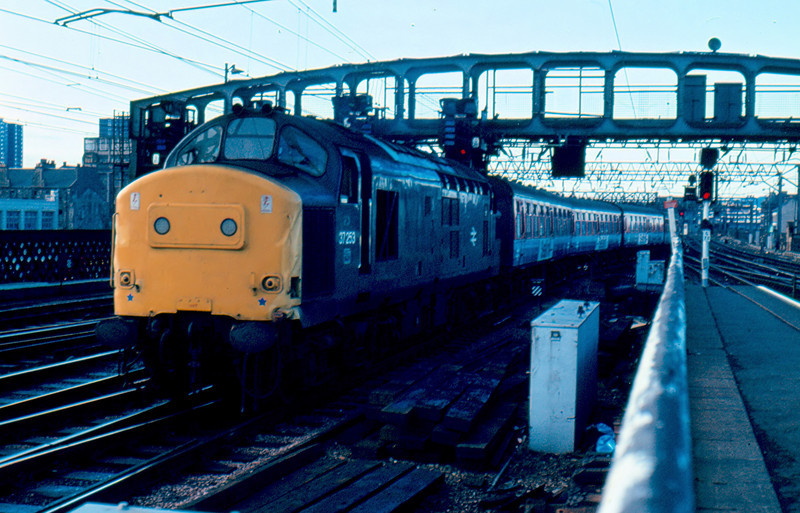 37253 arrives at Glasgow Central with the 07:00 from Ayr 07/08/84. This is the only picture I have of the Sealink liveried stock used on the Stranraer route.