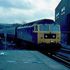 47557 arrives at Sheffield with the 09:40 Poole - Newcastle 29/02/84