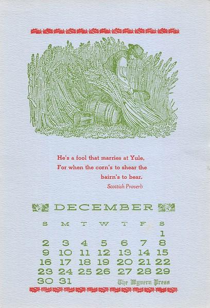 December, 1984,  Wyvern Press