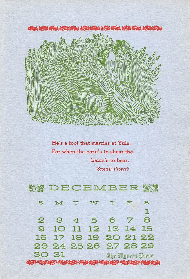 December, 1984,  Wyvern Press
