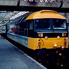 47710 at Edinburgh with the 18:20 to Carstairs and attached to the train from Glasgow and ran through to Liverpool Lime St 04/04/85