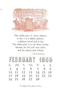 February, 1985, Rectory Basement Press