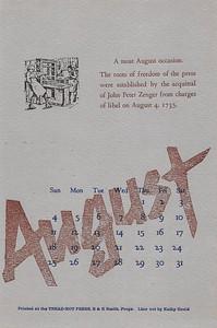 August, 1985, Tread-Not Press