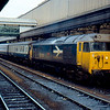 50003 calles at Exeter St David's with the 10:35 London Paddington - Penzance 13/03/85