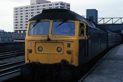 47519 is pictured on arrival at Leeds with 1E23 1040 from Carlisle (19/04/1985)