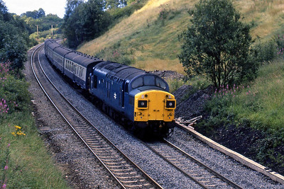 37090 approaches Dunblane with 1T40 1934 Perth - Glasgow Queen Street (13/08/1985)