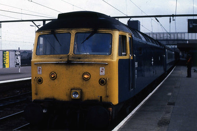 47610 calls at Wolverhampton with an unknown northbound working (19/10/1985)