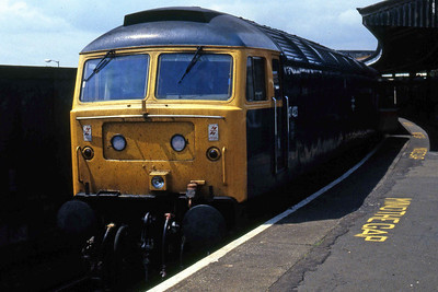 47423 at Portsmouth Harbour with the 1302 to Manchester Piccadilly (30/05/1986)