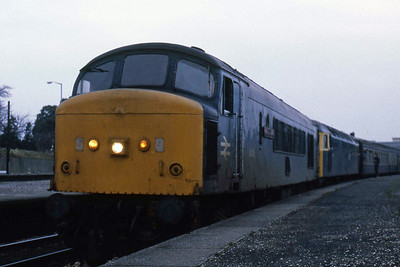 45112 + 47428 pause at Newton Abbot with 1C09 0635 Bristol Temple Meads - Plymouth (03/01/1986)